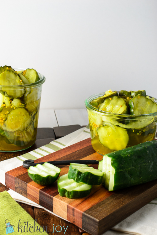 Bread and Butter Pickles - Kitchen Joy