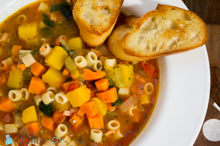 Winter Minestrone with Garlic Bruschette