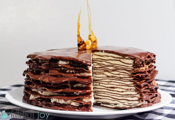 Outstanding Martha Stewart Chocolate Crepe Cake Archives Kitchen Joy Funny Birthday Cards Online Overcheapnameinfo