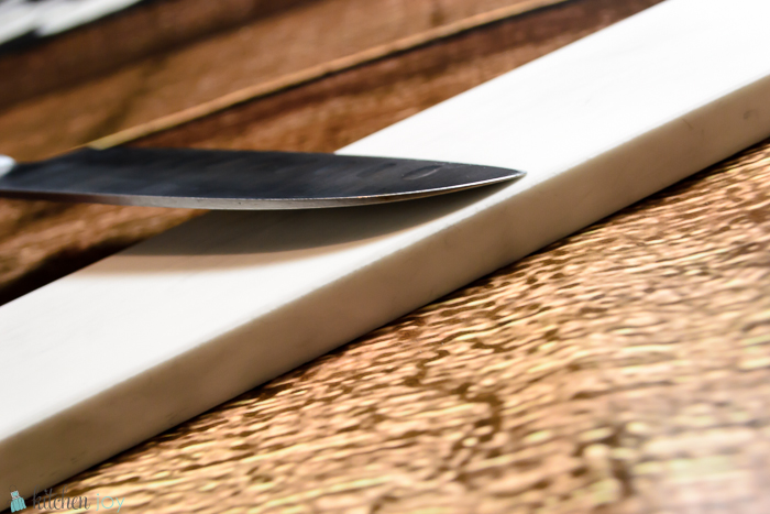 Sharpening to achieve a 30 degree edge. (15 degrees per side.)