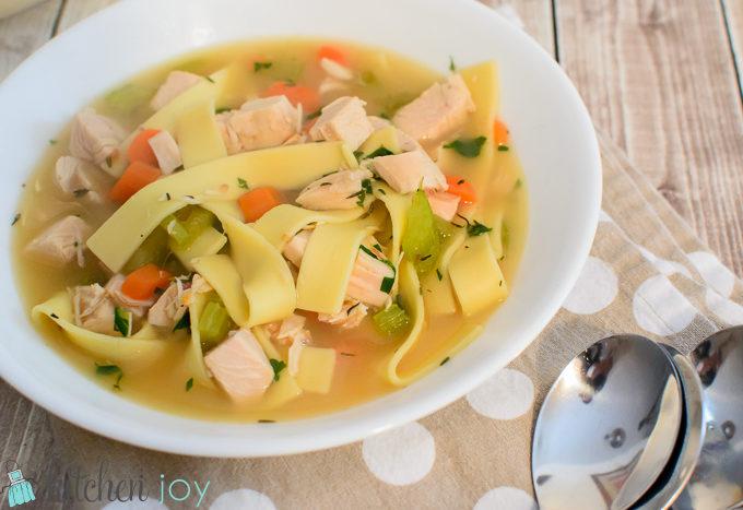 Homemade Turkey Noodle Soup, Homemade Turkey Stock,