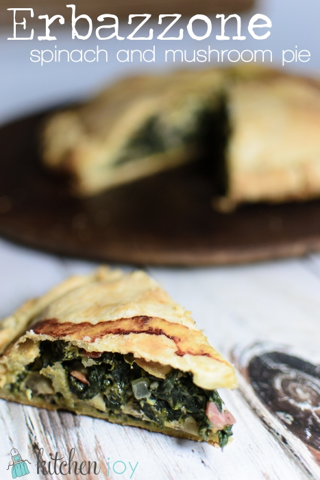 Erbazzone (Savory Spinach and Mushroom Pie)