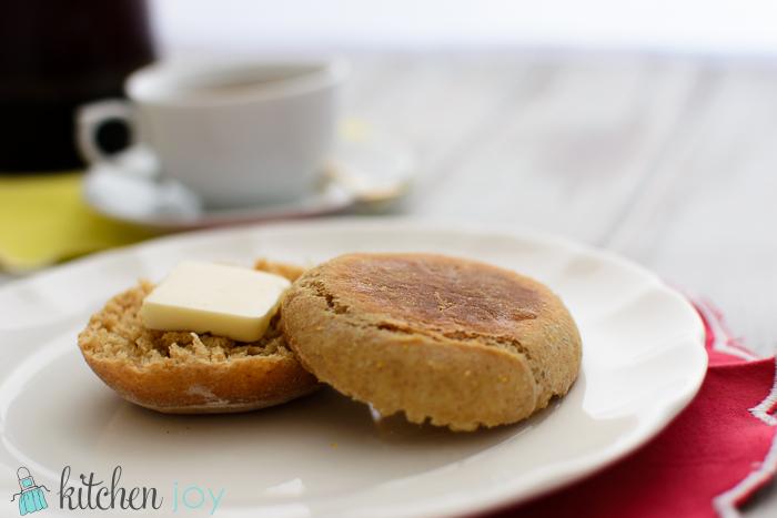 Homemade Honey Wheat English Muffins