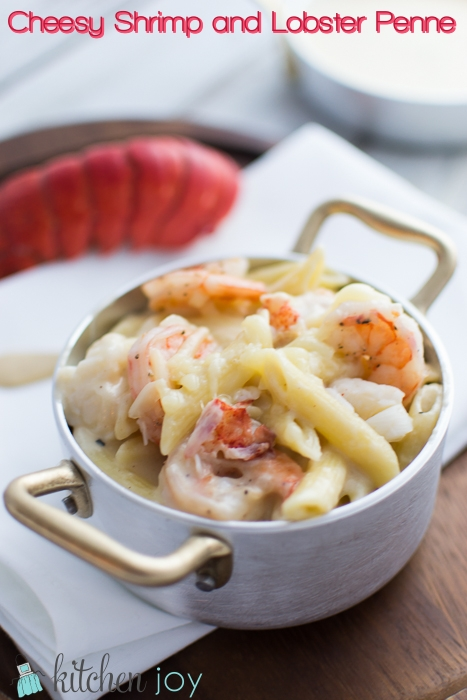 Cheesy Shrimp and Lobster Penne