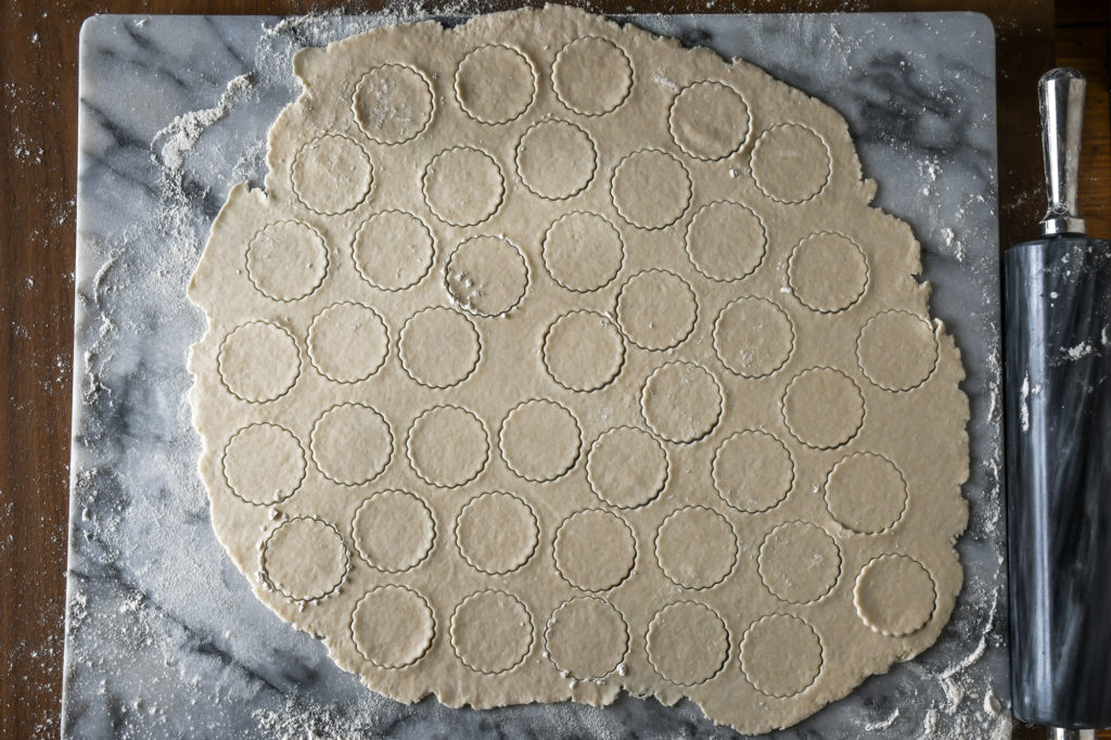 homemade cracker dough rolled very thin