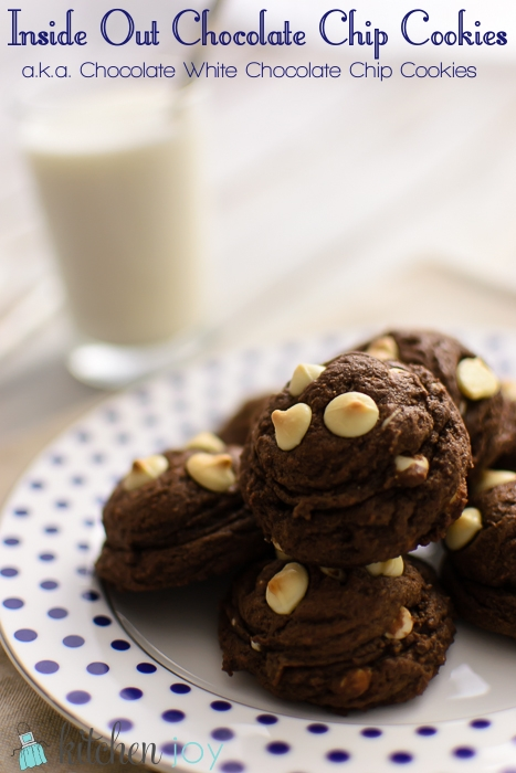 Inside Out White Chocolate Chip Cookies