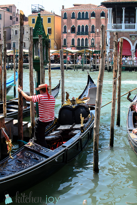 Gondola and Gondolier-Venice, Italy ~ July 19, 2014