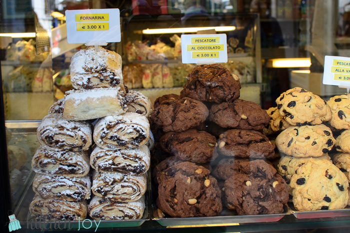 Pastries- Venice, Italy ~ July 19, 2014