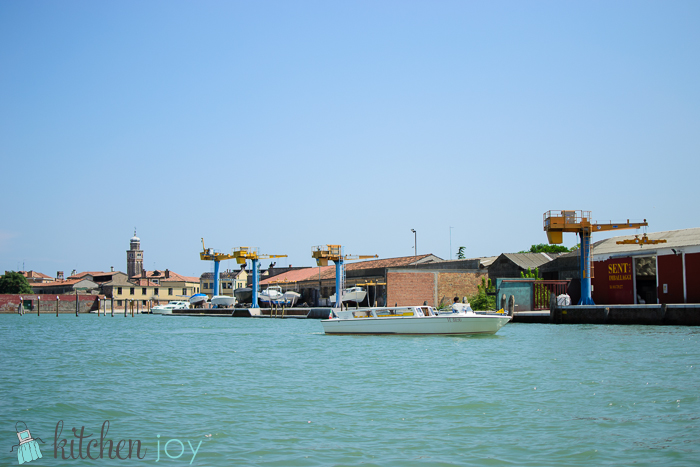 View of Murano from the Water Taxi.