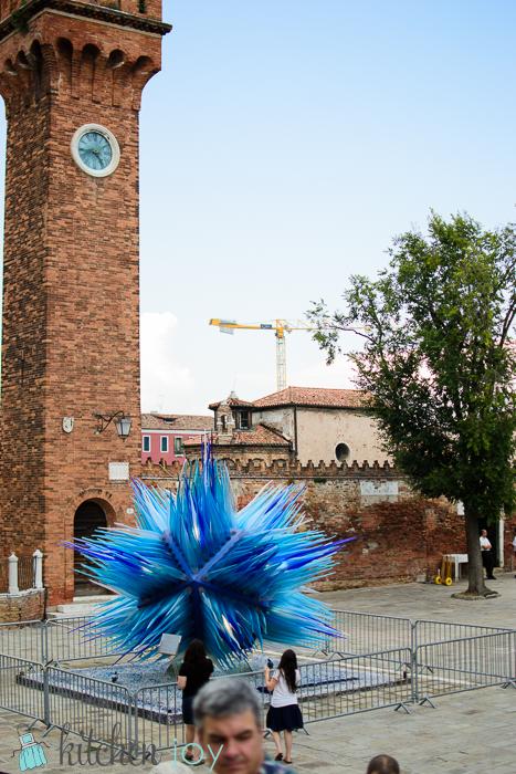 Murano glass sculpture in Murano, Italy.