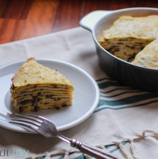 Radicchio Crepes (Crespelle al Radicchio) - Kitchen Joy