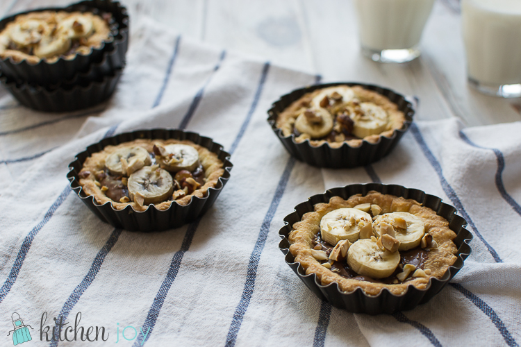 Nutella Tartlets with Banana - Kitchen Joy