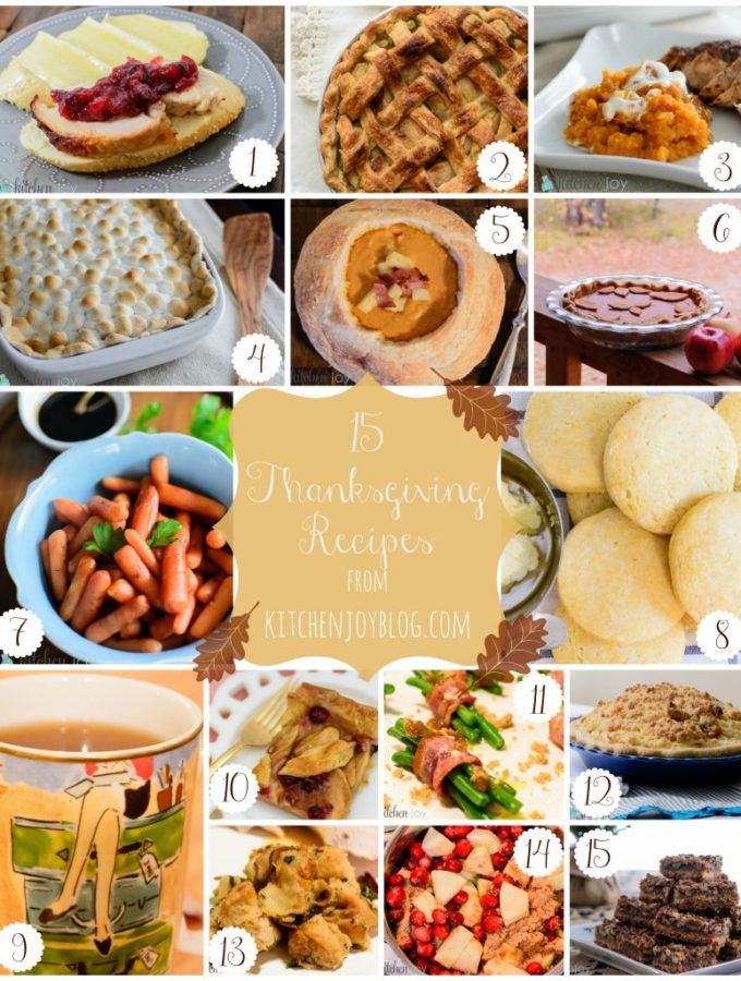 Thanksgiving Recipe Roundup - Kitchen Joy
