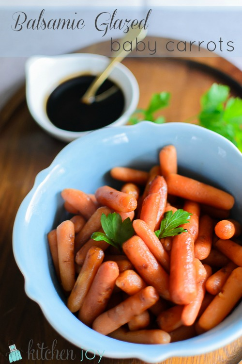 Balsamic Glazed Baby Carrots - Kitchen Joy