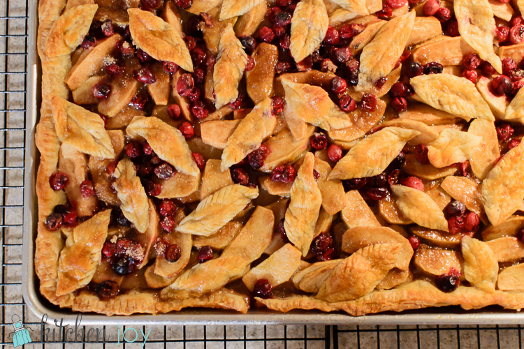 Cranberry Apple Slab Pie- Kitchen Joy