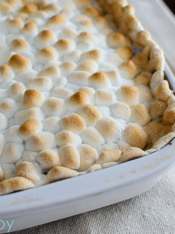 Sweet Potato Casserole with Toasted Marshmallows - Kitchen Joy