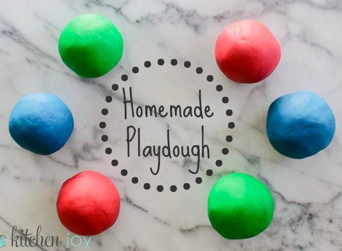 Homemade Playdough - Kitchen Joy