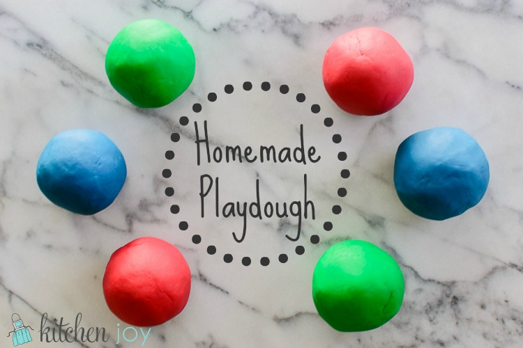 Homemade Playdough -Kitchen Joy
