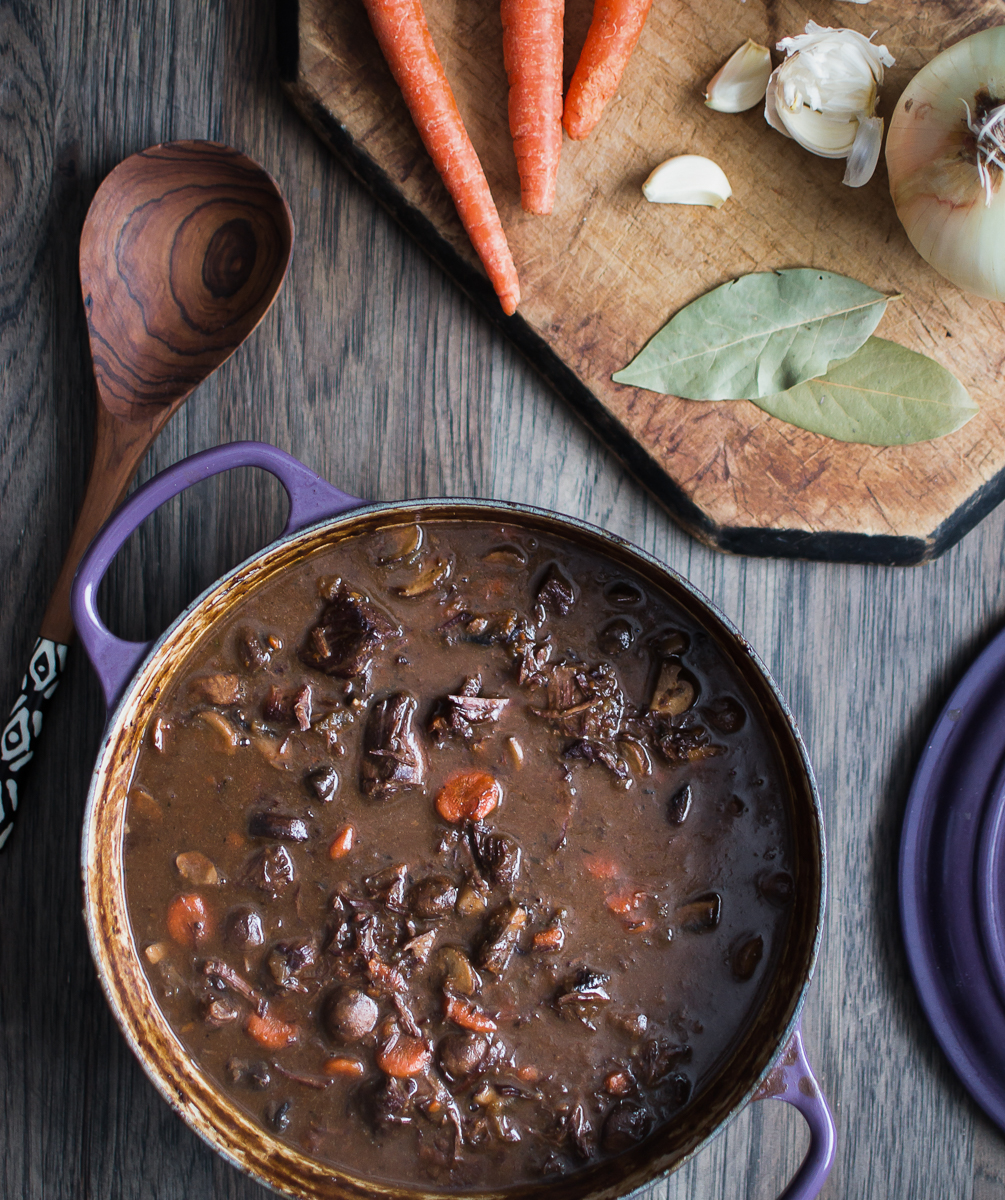 Boeuf Bourguignon Beef Stew With Red Wine And Mushrooms Kitchen Joy