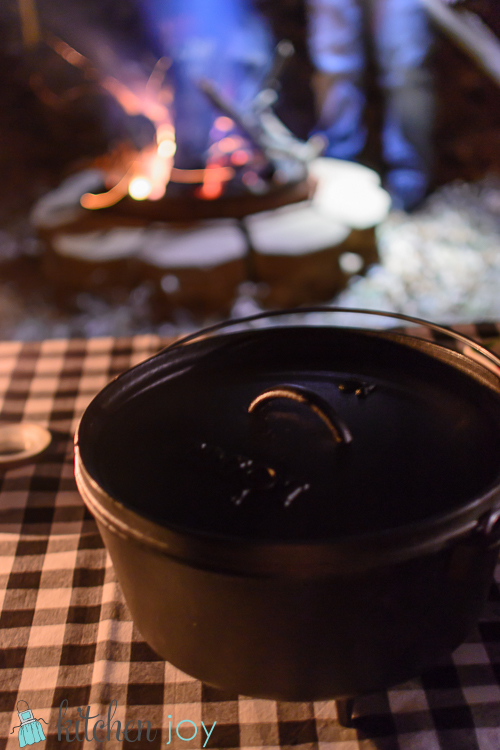 Campfire Chicken and Dumplings - Kitchen Joy