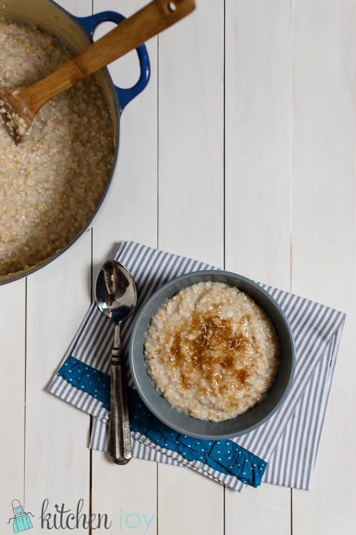 Overnight Steel Cut Oats- Kitchen Joy