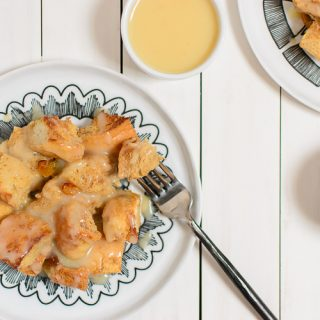 Bread Pudding with Warm Vanilla Sauce - Kitchen Joy
