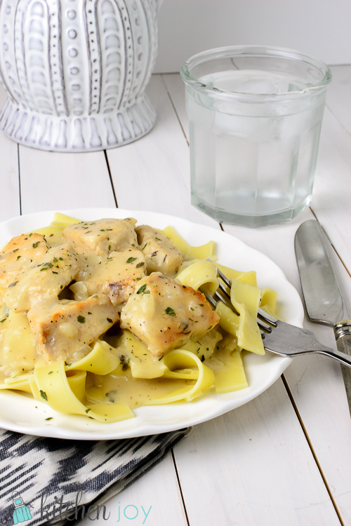 Creamy Chicken and Noodles - Kitchen Joy