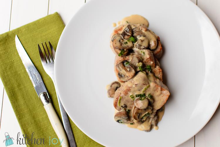 Pork Tenderloin with Creamy Mushroom Sauce - Kitchen Joy