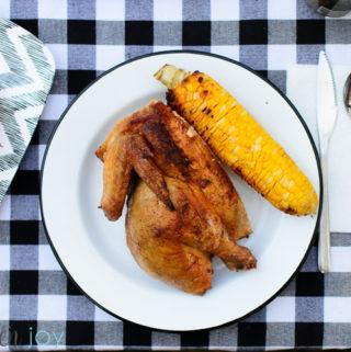 Grilled Spatchcock Chicken - Kitchen Joy
