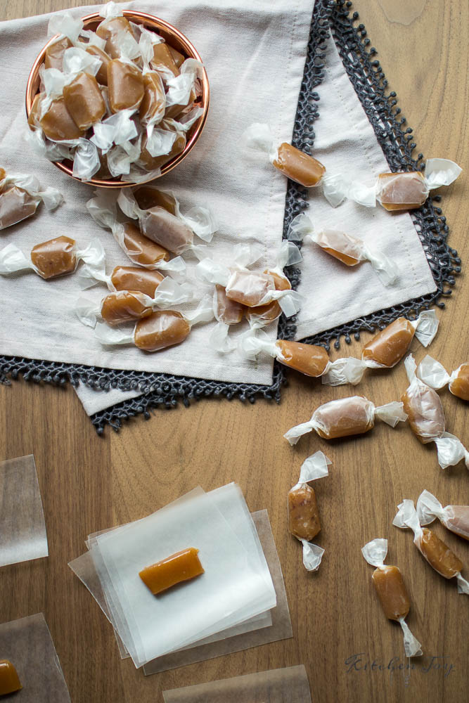 Apple Cider Caramels - Kitchen Joy