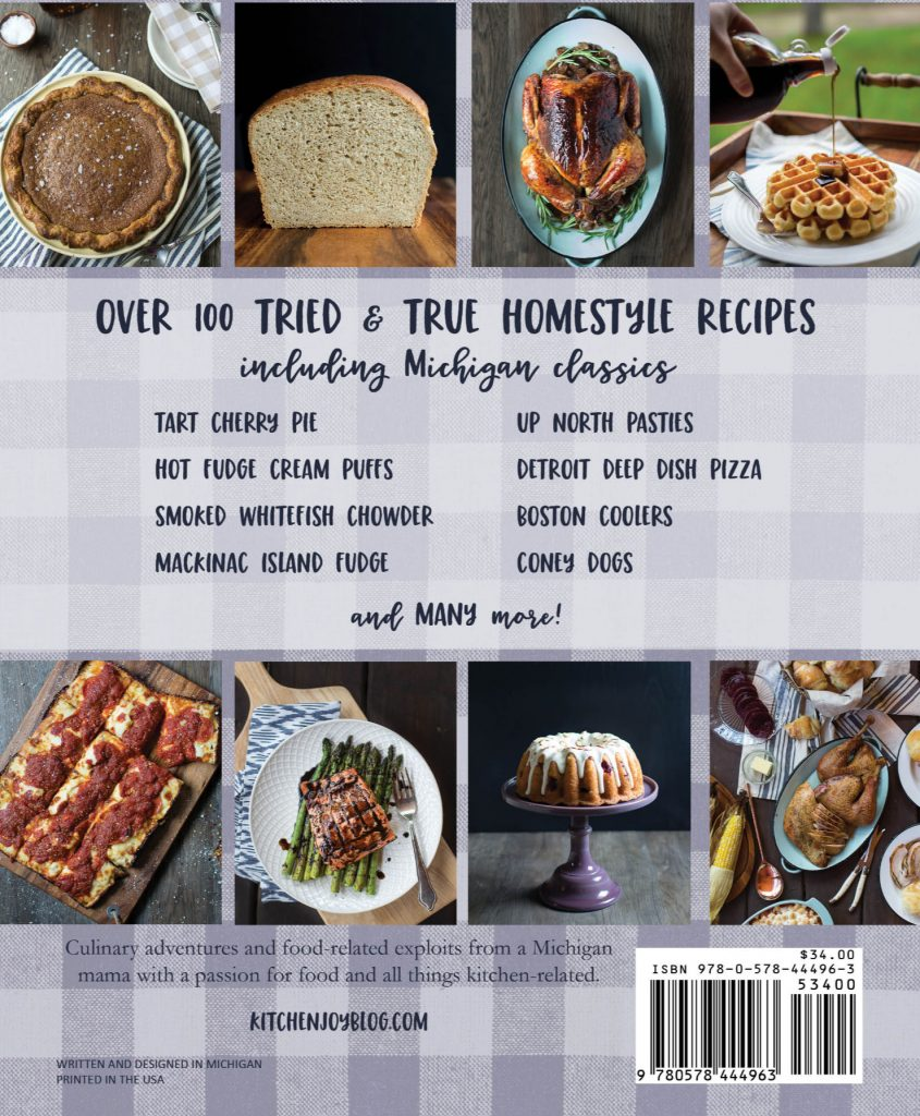 classic Michigan recipes, Michigan cookbook, Michigan souvenir, indie publisher, kitchenjoy cookbook, Mandy McGovern cookbook