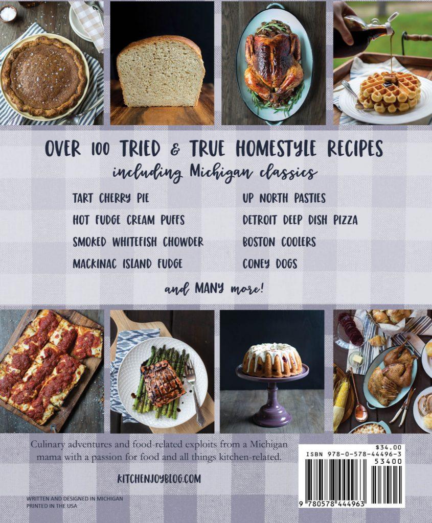 classic Michigan recipes, Michigan cookbook, Michigan souvenir, indie publisher, kitchenjoy cookbook, Mandy McGovern cookbook