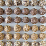 round energy bites, cookie dough balls, granola snacks,