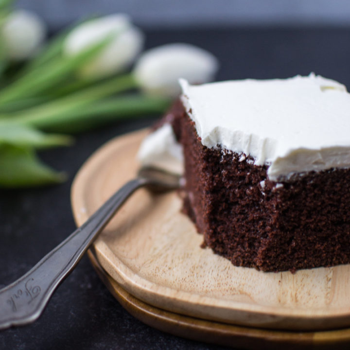 Sourdough Chocolate Cake with Ermine Frosting